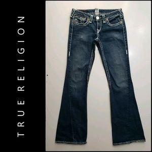 True Religion Woman Denim Blue Boot Cut Jeans